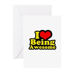 I love being awesome Greeting Cards (Pk of 10)