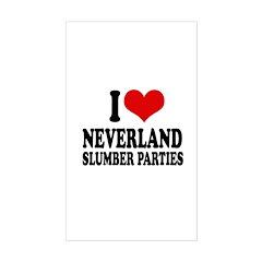 I love neverland slumber parties Decal