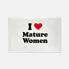 I love mature women Rectangle Magnet