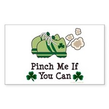 St Patrick's Day Runner Rectangle Decal