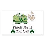 St Patrick's Day Runner Rectangle Sticker