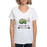 St Patrick's Day Runner Women's V-Neck T-Shirt