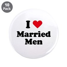 """I love married men 3.5"""" Button (10 pack)"""
