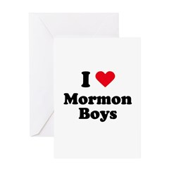 I love mormon boys Greeting Card
