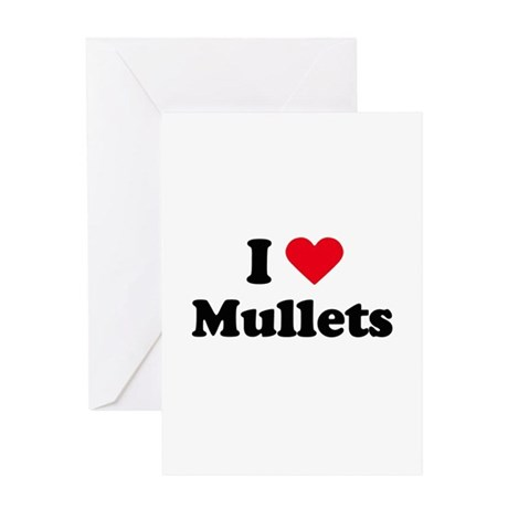 I love mullets Greeting Card