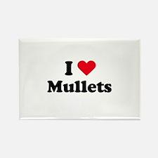 I love mullets Rectangle Magnet