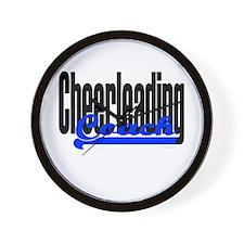 Cheerleading Coach (Blue) Wall Clock