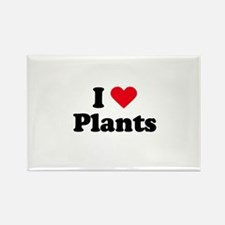 I love plants Rectangle Magnet