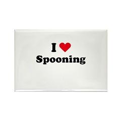 I love spooning Rectangle Magnet