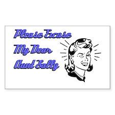 Dear Aunt Sally Rectangle Decal