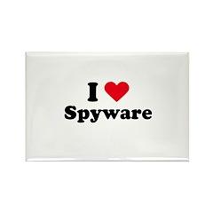 I love spyware Rectangle Magnet