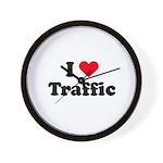 I love traffic Wall Clock