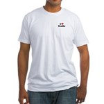 I love traffic Fitted T-Shirt