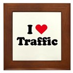 I love traffic Framed Tile