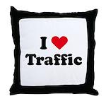 I love traffic Throw Pillow