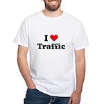 I love traffic White T-Shirt