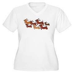 Dachsund Cartoon T-Shirt