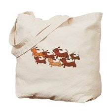 Dachsund Cartoon Tote Bag