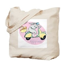 Scooter Bunny Eggspress Tote Bag