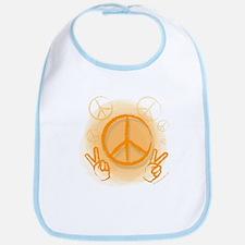 Peace Symbol & V-Sign Color Bib