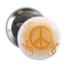 "Peace Symbol & V-Sign Color 2.25"" Button"