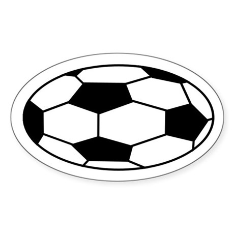 SOCCER!! Oval Sticker