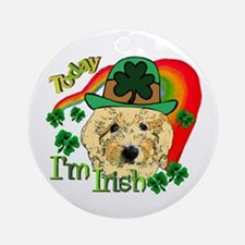 St. Patricks Goldendoodle Ornament (Round)