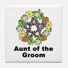 Pagan Pentagram Aunt of the Groom Tile Coaster