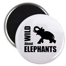 Wild About Elephants Magnet