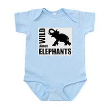 Wild About Elephants Infant Bodysuit
