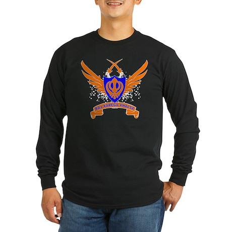 Raj Karega Khalsa. Long Sleeve Dark T-Shirt