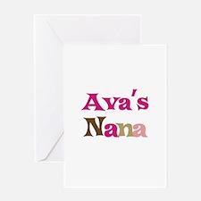 Ava's Nana Greeting Card