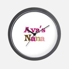 Ava's Nana Wall Clock