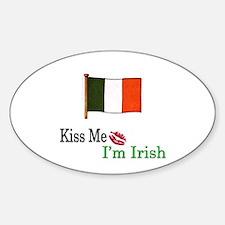 Kiss Me, I'm Irish Oval Decal