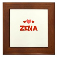Zena Framed Tile