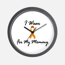 I Wear Orange For My Mommy 1 Wall Clock