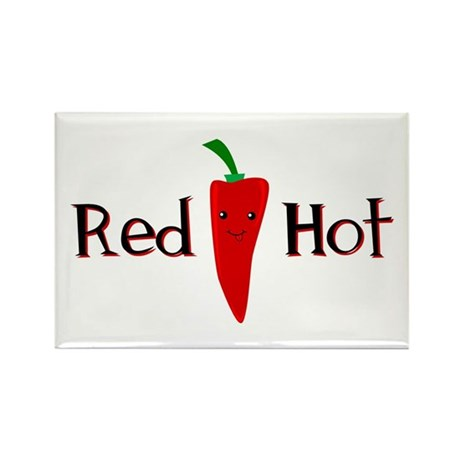 Red Hot Smiley Chili Pepper Rectangle Magnet