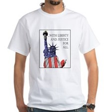 Patriotic American flag T-shirt with Liberty