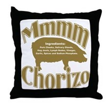 Mmmm Chorizo - Brown Throw Pillow