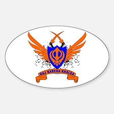 Raj Karega Khalsa. Oval Bumper Stickers