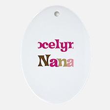 Jocelyn's Nana Oval Ornament