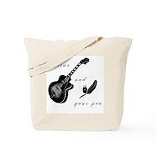 Guitar and Pen Tote Bag