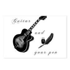Guitar and Pen Postcards (Package of 8)