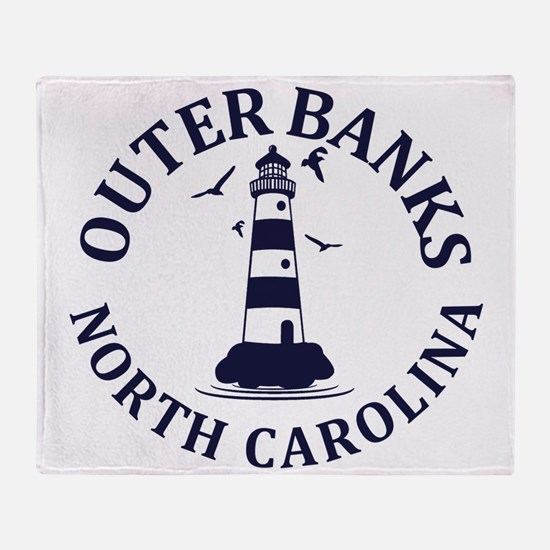 Summer outer banks- North Carolina Throw Blanket
