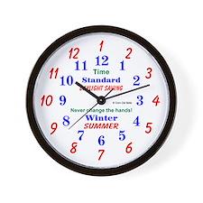 Daylight Savings Clock Wall Clock