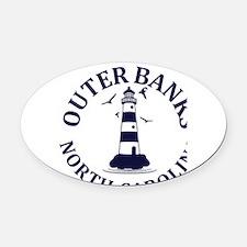 Summer outer banks- North Carolina Oval Car Magnet