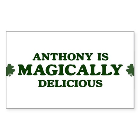 Anthony is delicious Rectangle Sticker