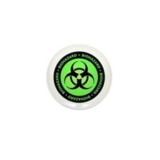 Green & Black Biohazard Mini Button