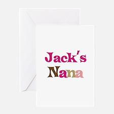 Jack's Nana Greeting Card