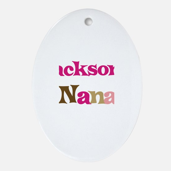 Jackson's Nana Oval Ornament